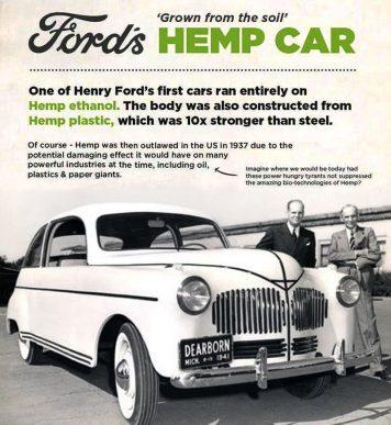 """La """"macchina con il corpo di canapa"""" di Henry Ford"""