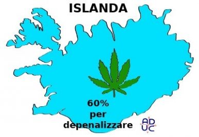 ISLANDA – Depenalizzazione cannabis. Favorevole il 60%