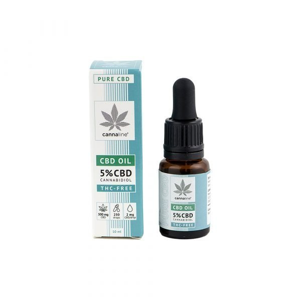 Olio CBD – THC Free – 5% (500 mg) CBD Oil